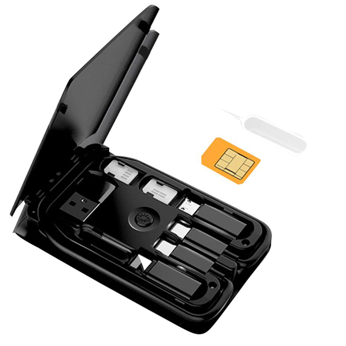 smart card storage adaptor kit with wireless charger