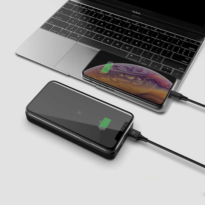 2 in 1 power bank with wireless charger