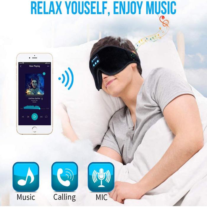 sleeping mask with wireless headphone