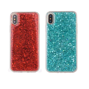 Sheer Crystal Twinkling Glass Fashionable Phone Case