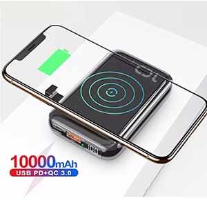 2 in 1 wireless and wired charger Power bank