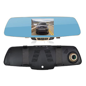 Dual Lens Rearview Mirror DVR Camera Dash Cam