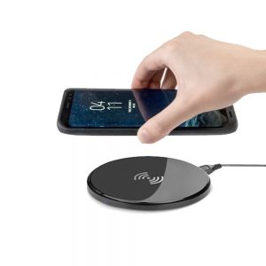 Ultra Slim Qi Wireless Charging Pad Fast Charger Compatible With Apple iPhone's /  Android Smartphones - Black