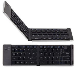 Mini Wireless Foldable Bluetooth Keyboard F66 For Windows Android IOS Tablet - Silver