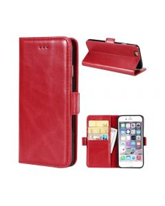 iPhone 6 Plus 5.5 PU Leather Wallet Deluxe Case - Red