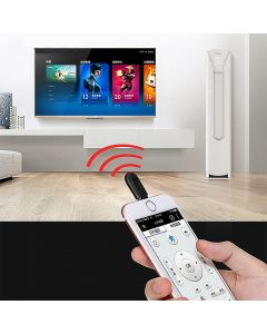 Universal Smart Wireless Infrared Micro USB Remote Control Device For TV Aircondition Projector Compatible With Android Smartphones And Tablets - Black