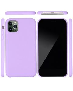 Liquid Gel Silicone Rubber Protective Case Cover For Apple iPhone 11 Pro 5.8'' - Purple
