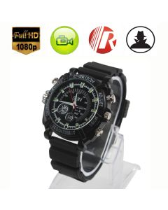 1080P Spy Hidden Watch Camera Night Vision Video Recorder Cam Waterproof HD 8GB