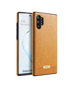 Relief Skin PU Leather Case Shockproof Phone Cover Case Back Case Cover For Samsung Galaxy Note 10 - Gold