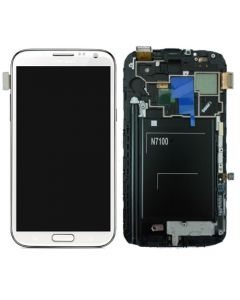Samsung Galaxy Note 2 i317 T889 LCD Screen Digitizer Touch With Frame Assembly - White