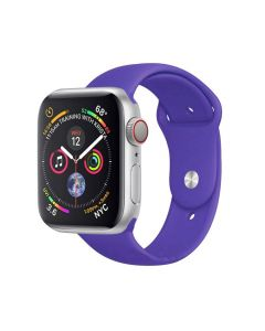 Watch Strap Silicone Sports Band Bracelet S/M Size For Apple iWatch Series 38mm/40mm - Purple