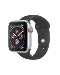 Watch Strap Silicone Sports Band Bracelet S/M Size For Apple iWatch Series 42mm/44mm - Black