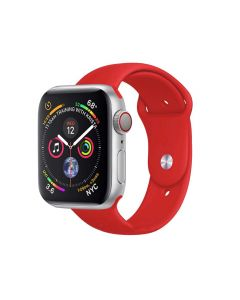 Watch Strap Silicone Sports Band Bracelet S/M Size For Apple iWatch Series 42mm/44mm - Red