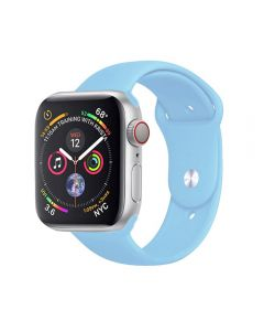 Watch Strap Silicone Sports Band Bracelet S/M Size For Apple iWatch Series 42mm/44mm - Light Blue