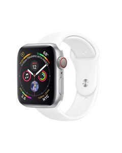 Watch Strap Silicone Sports Band Bracelet M/L Size For Apple iWatch Series 42mm/44mm - White