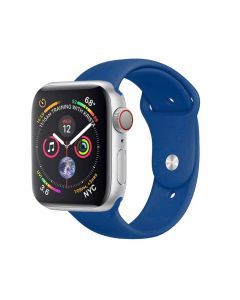 Watch Strap Silicone Sports Band Bracelet M/L Size For Apple iWatch Series 42mm/44mm - Cobalt Blue