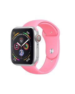 Watch Strap Silicone Sports Band Bracelet M/L Size For Apple iWatch Series 42mm/44mm - Light Pink