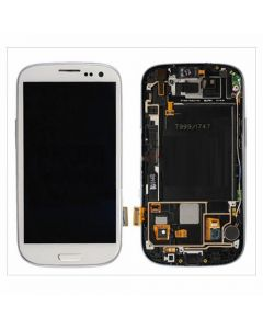 Samsung Galaxy S3 LCD Assembly With Touch Screen Digitizer Including Frame for i747 T999 - White