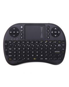 Wireless 2.4GHz Multi-media Portable Handheld Mini Keyboard with Touchpad Mouse - Black