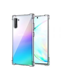 Anti-fall Air Cushion TPU Clear Cover Protective Back Phone Cover Case For Samsung Galaxy Note 10 - Clear