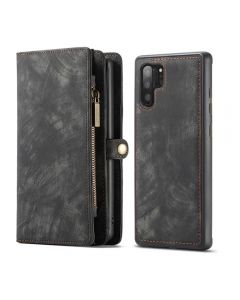 Multi Function Zipper Wallet Magnetic Detachable Phone Cover Case Back Case Cover For Galaxy Note 10+ Plus - Black