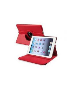 "Red iPad mini 1/ 2/ 3 360° Rotating Case / With Built In Stand / 7.9"" Ipad Mini Tablet / Rotates & Stands On Two Sides / Pu Leather"