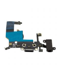 iPhone 5 USB Port Charger Dock Charging Port Connector With Flex Cable - Black