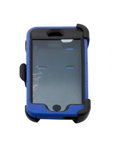 Rugged Shockproof Defender Armor Case with Rotating Belt Clip / Kickstand for iPhone 6 Plus - Blue