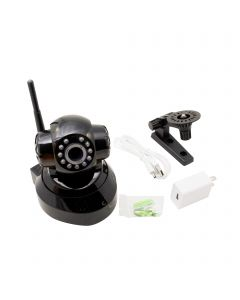 Wireless Mini IP Camera WIFI IR LED 2-Way Audio Pan / Tilt IP Webcam Nightvision US Plug - Black