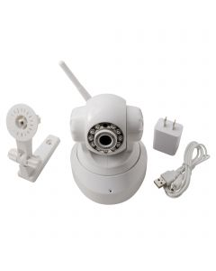 Wireless Mini IP Camera WIFI IR LED 2-Way Audio Pan / Tilt IP Webcam Nightvision US Plug - White