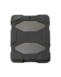 HEAVY DUTY MILITARY SURVIVOR SHOCKPROOF CASE STAND FOR APPLE I PAD 1/2  MINI - Black