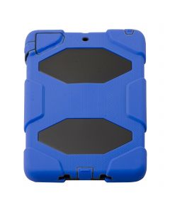 HEAVY DUTY MILITARY SURVIVOR SHOCKPROOF CASE STAND FOR APPLE I PAD 1/2  MINI - Blue