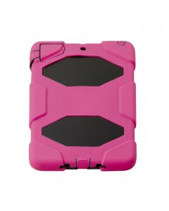 HEAVY DUTY MILITARY SURVIVOR SHOCKPROOF CASE STAND FOR APPLE I PAD 1/2  MINI - Pink
