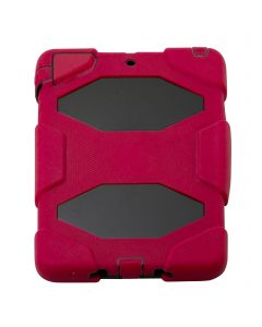 HEAVY DUTY MILITARY SURVIVOR SHOCKPROOF CASE STAND FOR APPLE I PAD 1/2  MINI - Red
