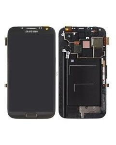 Samsung Galaxy Note 2 i317 T889 LCD Screen Digitizer Touch With Frame Assembly - Grey