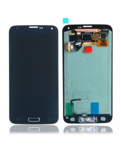LCD Screen and Digitizer Assembly for Samsung Galaxy S5 With Home Button and Flex - Black