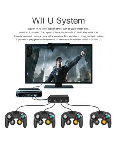 USB Adapter Converter 4 Ports Wii-U PC Switch Converter For PC Game Accessory / GameCube Controllers