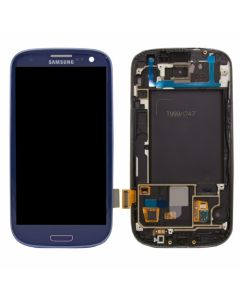 Samsung Galaxy S3 LCD Assembly With Touch Screen Digitizer Including Frame for i747 T999 - Pebble Blue