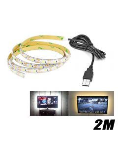 2M LED Lights Strip For Kitchen Under Cabinet Light Bedside Stairs Wardrobe Night Security Lamp - Without Motion Sensor