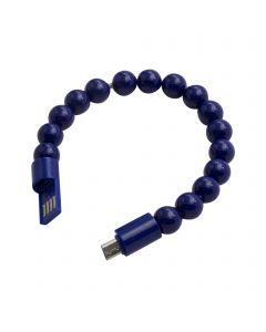 Beads Bracelet USB Charging / Sync Cable Micro USB Connector - Navy Blue