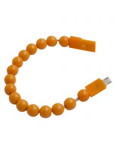 Beads Bracelet USB Charging / Sync Cable Micro USB Connector - Orange