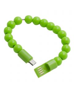 Beads Bracelet USB Charging / Sync Cable Micro USB Connector - Light Green