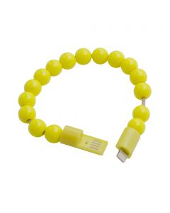 Beads Bracelet USB Charging / Sync Cable iPhone Lightning 8 Pin Connector - Yellow