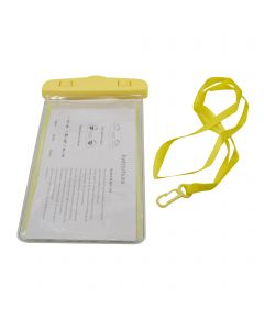 Universal Waterproof Underwater Pouch Dry Bag Case Cover Cell Phone Swimming Bag Fits Most Mobile Phones - Yellow