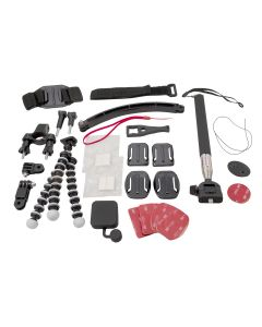 Universal Accessory Kit For Go Pro / Action Camera - Super Deluxe Pack