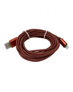 8-Pin Braided Lightning Cable for iOS 3M - Red