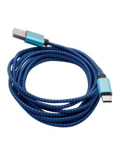 Braided USB Type-C Cable for Android 1M - Blue