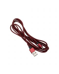 Braided USB Type-C Cable for Android 1M - Red