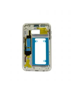 Samsung Galaxy S7 Edge Housing Middle Front Frame Replacement Bezel Chassis Assembly - Silver
