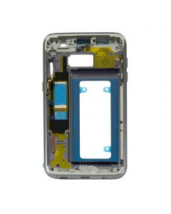 Samsung Galaxy S7 Edge Housing Middle Front Frame Replacement Bezel Chassis Assembly - Black